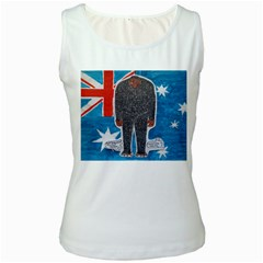 Big Foot H,australia Flag Women s Tank Top (white)