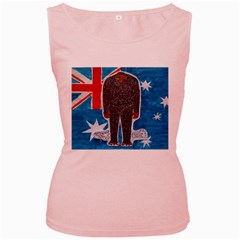 Big Foot H,australia Flag Women s Tank Top (Pink)