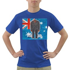 Big Foot H,australia Flag Men s T-shirt (Colored)