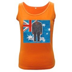 Big Foot H,australia Flag Women s Tank Top (dark Colored)