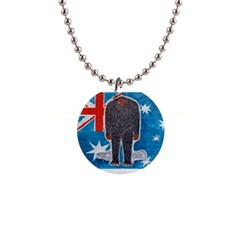 Big Foot H,australia Flag Button Necklace