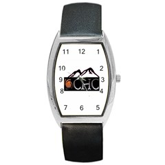 Chc Logo Tonneau Leather Watch