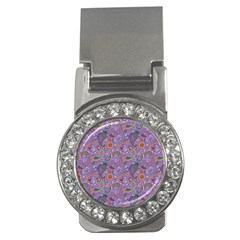 Purple Paisley Money Clip (CZ)