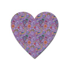 Purple Paisley Magnet (Heart)