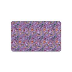 Purple Paisley Magnet (Name Card)