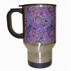 Purple Paisley Travel Mug (White)