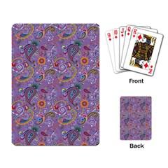 Purple Paisley Playing Cards Single Design