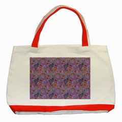 Purple Paisley Classic Tote Bag (Red)