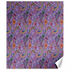 Purple Paisley Canvas 8  x 10  (Unframed)