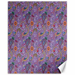 Purple Paisley Canvas 16  X 20  (unframed)