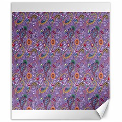 Purple Paisley Canvas 20  x 24  (Unframed)