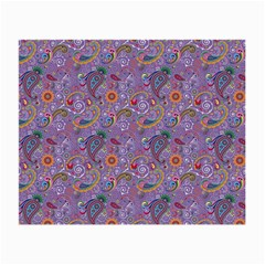 Purple Paisley Glasses Cloth (Small, Two Sided)