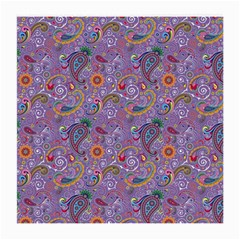 Purple Paisley Glasses Cloth (Medium, Two Sided)
