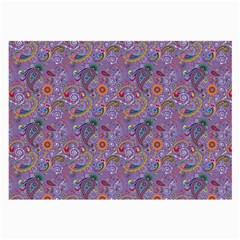 Purple Paisley Glasses Cloth (Large, Two Sided)