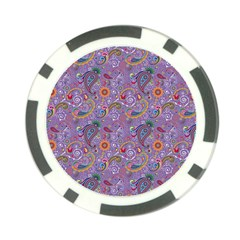 Purple Paisley Poker Chip