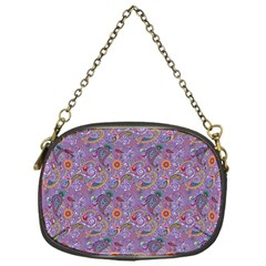 Purple Paisley Chain Purse (one Side)