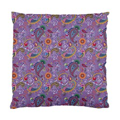 Purple Paisley Cushion Case (Two Sided)
