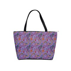 Purple Paisley Large Shoulder Bag