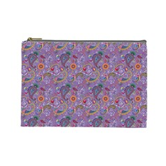 Purple Paisley Cosmetic Bag (large)