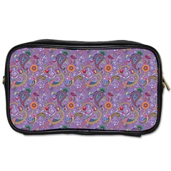 Purple Paisley Travel Toiletry Bag (Two Sides)