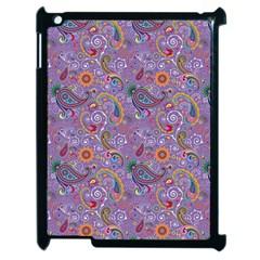 Purple Paisley Apple Ipad 2 Case (black)
