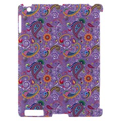 Purple Paisley Apple iPad 2 Hardshell Case (Compatible with Smart Cover)