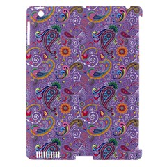 Purple Paisley Apple Ipad 3/4 Hardshell Case (compatible With Smart Cover)