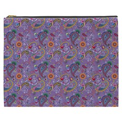 Purple Paisley Cosmetic Bag (xxxl)