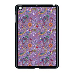 Purple Paisley Apple iPad Mini Case (Black)