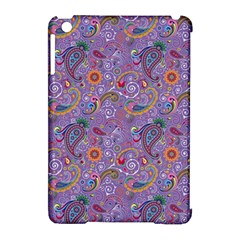 Purple Paisley Apple iPad Mini Hardshell Case (Compatible with Smart Cover)