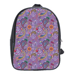 Purple Paisley School Bag (XL)