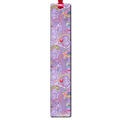 Purple Paisley Large Bookmark