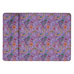 Purple Paisley Samsung Galaxy Tab 10 1  P7500 Flip Case