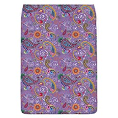 Purple Paisley Removable Flap Cover (large)