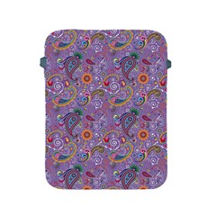 Purple Paisley Apple iPad Protective Sleeve