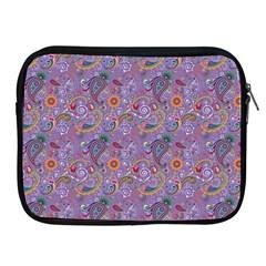 Purple Paisley Apple iPad Zippered Sleeve