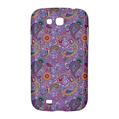 Purple Paisley Samsung Galaxy Grand GT-I9128 Hardshell Case