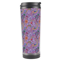 Purple Paisley Travel Tumbler
