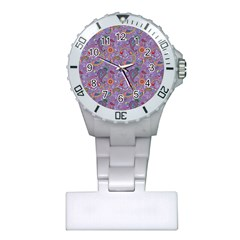 Purple Paisley Nurses Watch