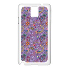 Purple Paisley Samsung Galaxy Note 3 N9005 Case (White)