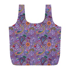 Purple Paisley Reusable Bag (l)