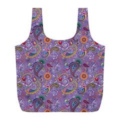 Purple Paisley Reusable Bag (L)