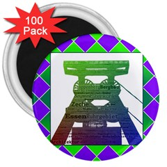 Mine 3  Button Magnet (100 pack)
