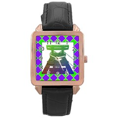 Mine Rose Gold Leather Watch