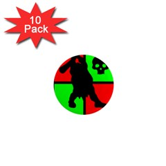 Angry Ogre Games Logo 1  Mini Button Magnet (10 pack)