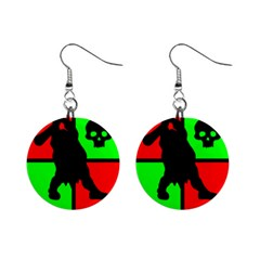 Angry Ogre Games Logo Mini Button Earrings