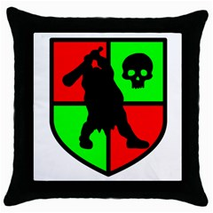 Angry Ogre Games Logo Black Throw Pillow Case