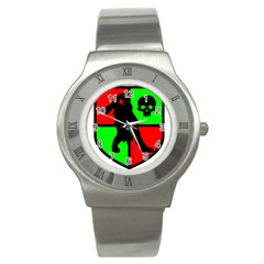 Angry Ogre Games Logo Stainless Steel Watch (Slim)