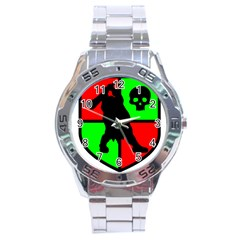 Angry Ogre Games Logo Stainless Steel Watch