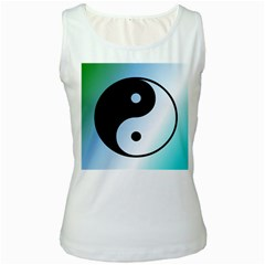 Ying Yang  Women s Tank Top (White)
